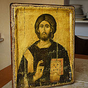 Картины и панно handmade. Livemaster - original item Icon of Christ Pantocrator 16 BB. Sinai. Handmade.