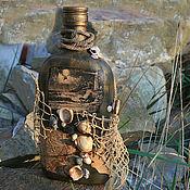 """Сувениры и подарки ручной работы. Ярмарка Мастеров - ручная работа Бутылка """"С морем навсегда"""".. Handmade."""