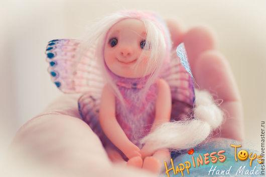 Миниатюра ручной работы. Ярмарка Мастеров - ручная работа. Купить Стефания куколка-фея. Handmade. Комбинированный, мех для миниатюры