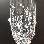 """Свадебный салон ручной работы. Ярмарка Мастеров - ручная работа свадебные бокалы """"Роскошь белого"""". Handmade."""
