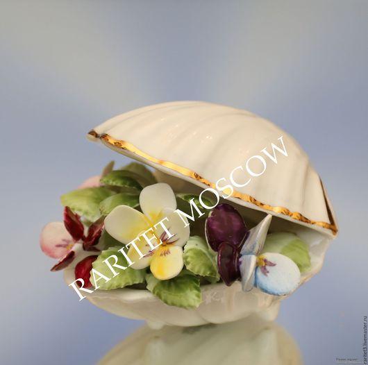 Винтажные предметы интерьера. Ярмарка Мастеров - ручная работа. Купить Ваза с цветами ракушка Royal Daulton Англия 19. Handmade.