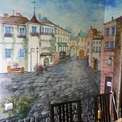 Картины и панно ручной работы. Ярмарка Мастеров - ручная работа Cafe de flore. Handmade.