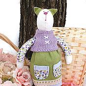 """Куклы и игрушки ручной работы. Ярмарка Мастеров - ручная работа Кошка """"В сарафане"""". Handmade."""