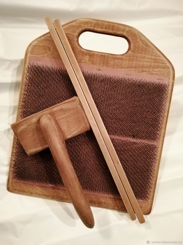 Кардерная доска 30х40см. для смешивания волокон для разноцветной пряжи – заказать на Ярмарке Мастеров – HRSCDRU | Инструменты для вязания, Котлас