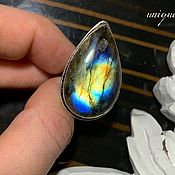 Украшения handmade. Livemaster - original item Drop ring with bright Labradorite. Handmade.