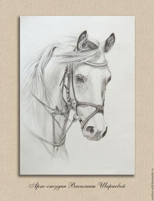 Лошадь. Животные ручной работы. Ярмарка мастеров - ручная работа. Handmade. Купить рисунок. Купить картину. Карандаш, бумага, портрет. Нет в наличии, сделать на заказ