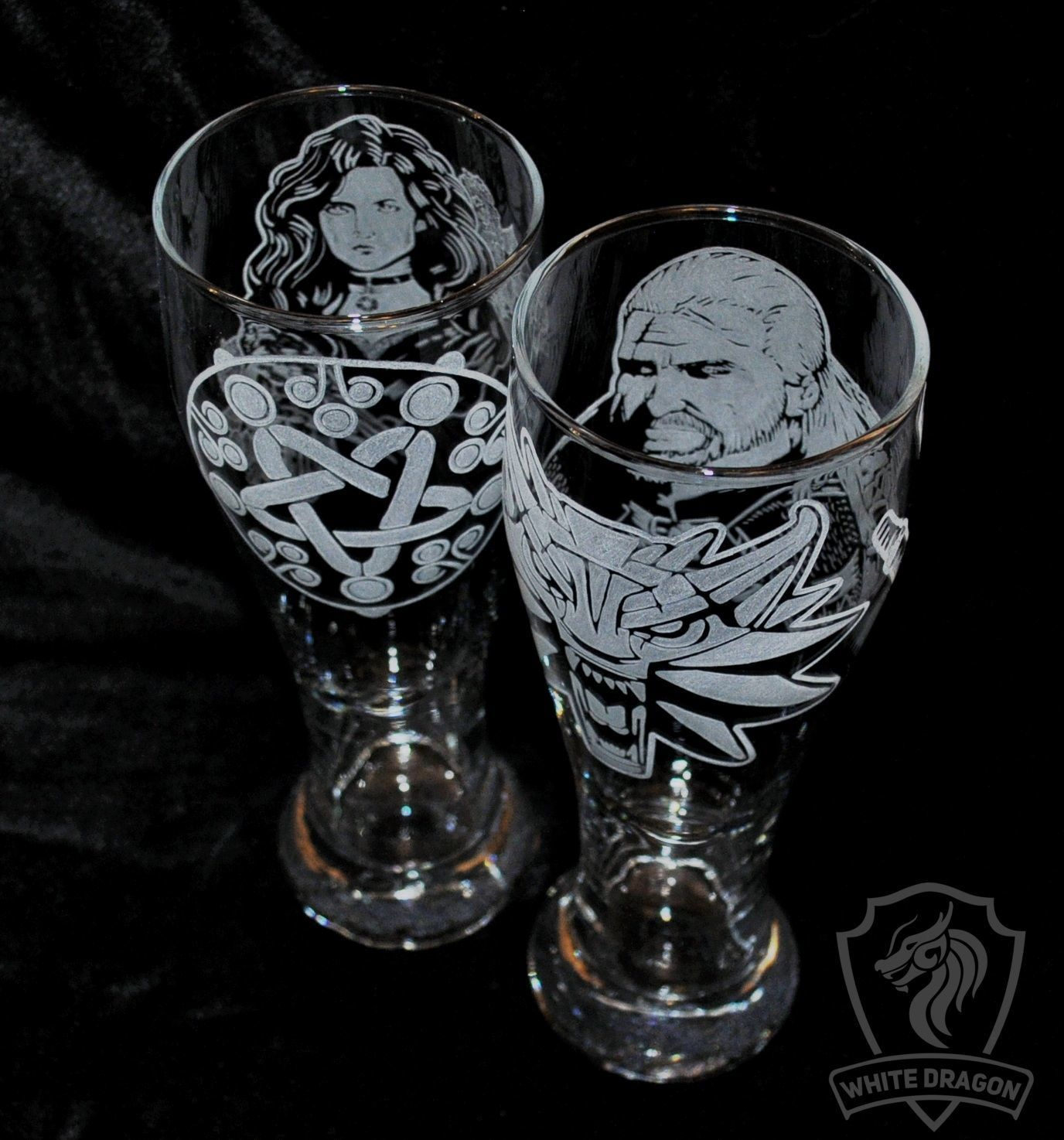 Geralt and Yennefer. Beer glasses, Wine Glasses, Nizhny Novgorod,  Фото №1