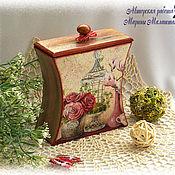 """Для дома и интерьера ручной работы. Ярмарка Мастеров - ручная работа Короб для хранения """"Розы"""". Handmade."""