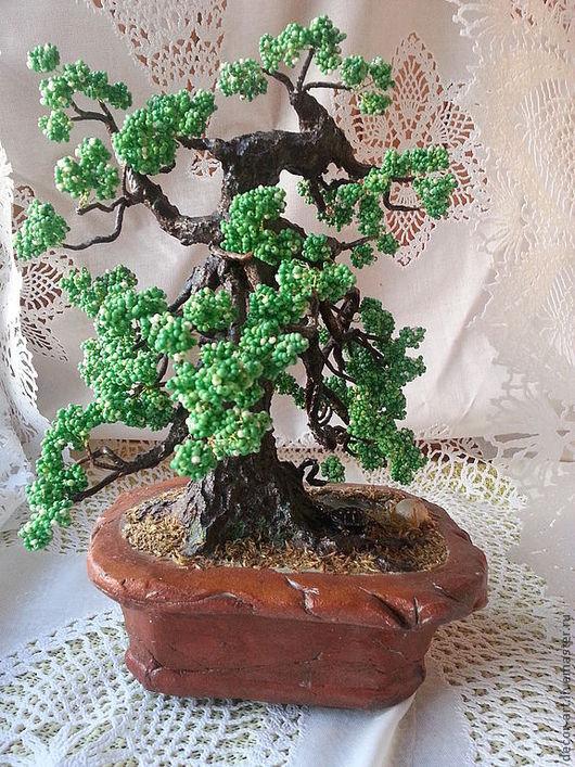 дерево из бисера СТАРЫЙ РАСКИДИСТЫЙ ДУБ Анастасия (Decor-art)