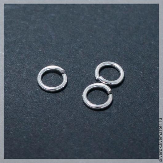 Для украшений ручной работы. Ярмарка Мастеров - ручная работа. Купить Кольцо соединительное 6мм серебро  925 пробы. Handmade.