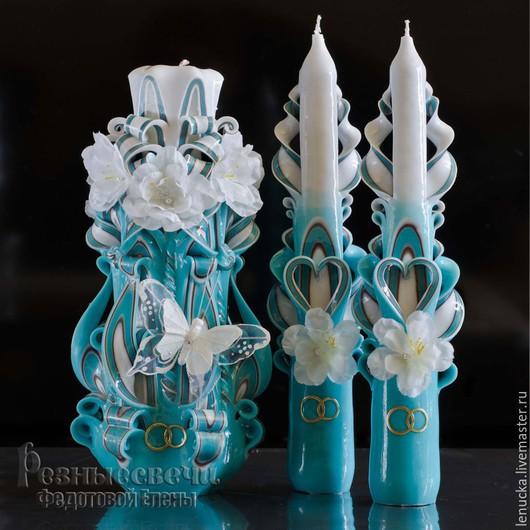 Резные свадебные свечи.Резные свечи.Свечи резные.Интерьерные свечи. Свадебные резные свечи. Резные свадебные свечи ручной работы.. Домашний очаг.Свечи резные свадебные.