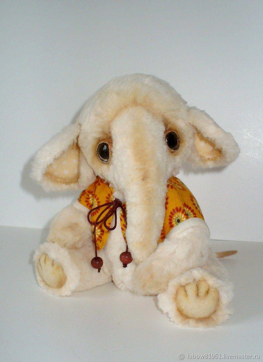 """Игрушки животные, ручной работы. Ярмарка Мастеров - ручная работа. Купить Слоник тедди - """"Сани"""". Handmade. Слон, малыш"""