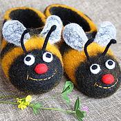 Обувь ручной работы. Ярмарка Мастеров - ручная работа Тапочки Пчёлы.. Handmade.