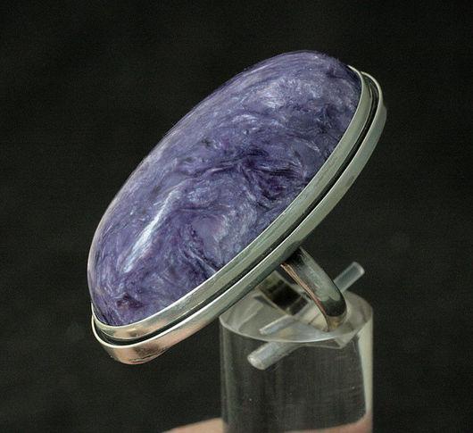 Кольца ручной работы. Ярмарка Мастеров - ручная работа. Купить Кольцо с чароитом 301. Handmade. Кольцо, серебро, серебро