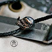 Субкультуры handmade. Livemaster - original item decoration: Bead on a lanyard brass