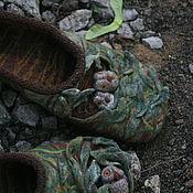 """Обувь ручной работы. Ярмарка Мастеров - ручная работа Валяные тапочки-сказка """"...когда просыпаются совы..."""". Handmade."""