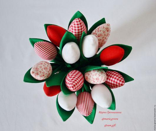 Куклы Тильды ручной работы. Ярмарка Мастеров - ручная работа. Купить Тюльпаны из ткани. Handmade. Разноцветный, тюльпаны тильда
