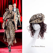 Аксессуары handmade. Livemaster - original item Cap. caps. Women`s eight-link caps. Summer cap. Leopard. Handmade.