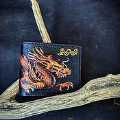 handmade. Livemaster - original item Wallet, genuine leather. Chinese Dragon embossing, painting. Handmade.