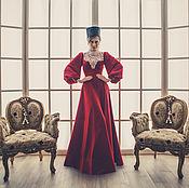 Одежда ручной работы. Ярмарка Мастеров - ручная работа Платье в макси длине, с кружевной отделкой.. Handmade.