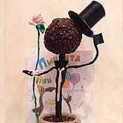 Цветы и флористика ручной работы. Ярмарка Мастеров - ручная работа Топиарий Джентельмен. Handmade.