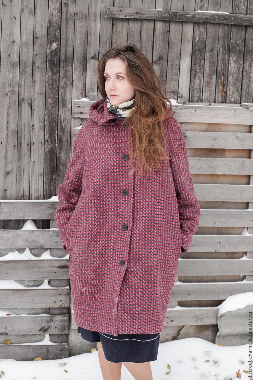 3dc4d838c34 Верхняя одежда ручной работы. Ярмарка Мастеров - ручная работа. Купить  Бордовое зимнее шерстяное пальто ...