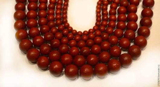 Для украшений ручной работы. Ярмарка Мастеров - ручная работа. Купить Жемчуг майорка , бусины шарики фактурные, красные. Handmade.