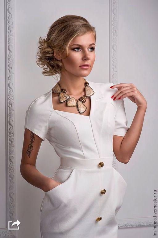 Великолепное летнее платье из хлопка сшито на заказ. Ярмарка Мастеров - пошив платья на заказ. Дизайнер Лана Морозова.