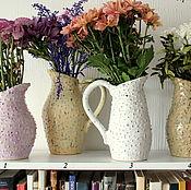 Для дома и интерьера ручной работы. Ярмарка Мастеров - ручная работа Пупырчатые кувшины в пастельных тонах. Handmade.