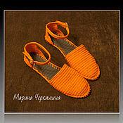 Обувь ручной работы handmade. Livemaster - original item sandals. Knitted shoes. shoes custom.. Handmade.