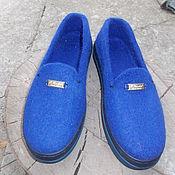Обувь ручной работы. Ярмарка Мастеров - ручная работа Мокасины-слипоны женские. Handmade.