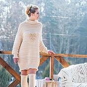 Одежда ручной работы. Ярмарка Мастеров - ручная работа Свитер-платье для весенних проулок. Тёплый свитер. Свитер объёмный.. Handmade.