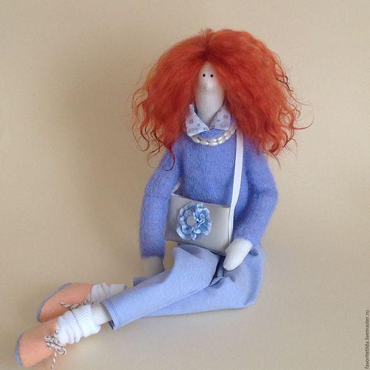 Куклы Тильды ручной работы. Ярмарка Мастеров - ручная работа. Купить Джессика интерьерная текстильная кукла в стиле Тильда.. Handmade.