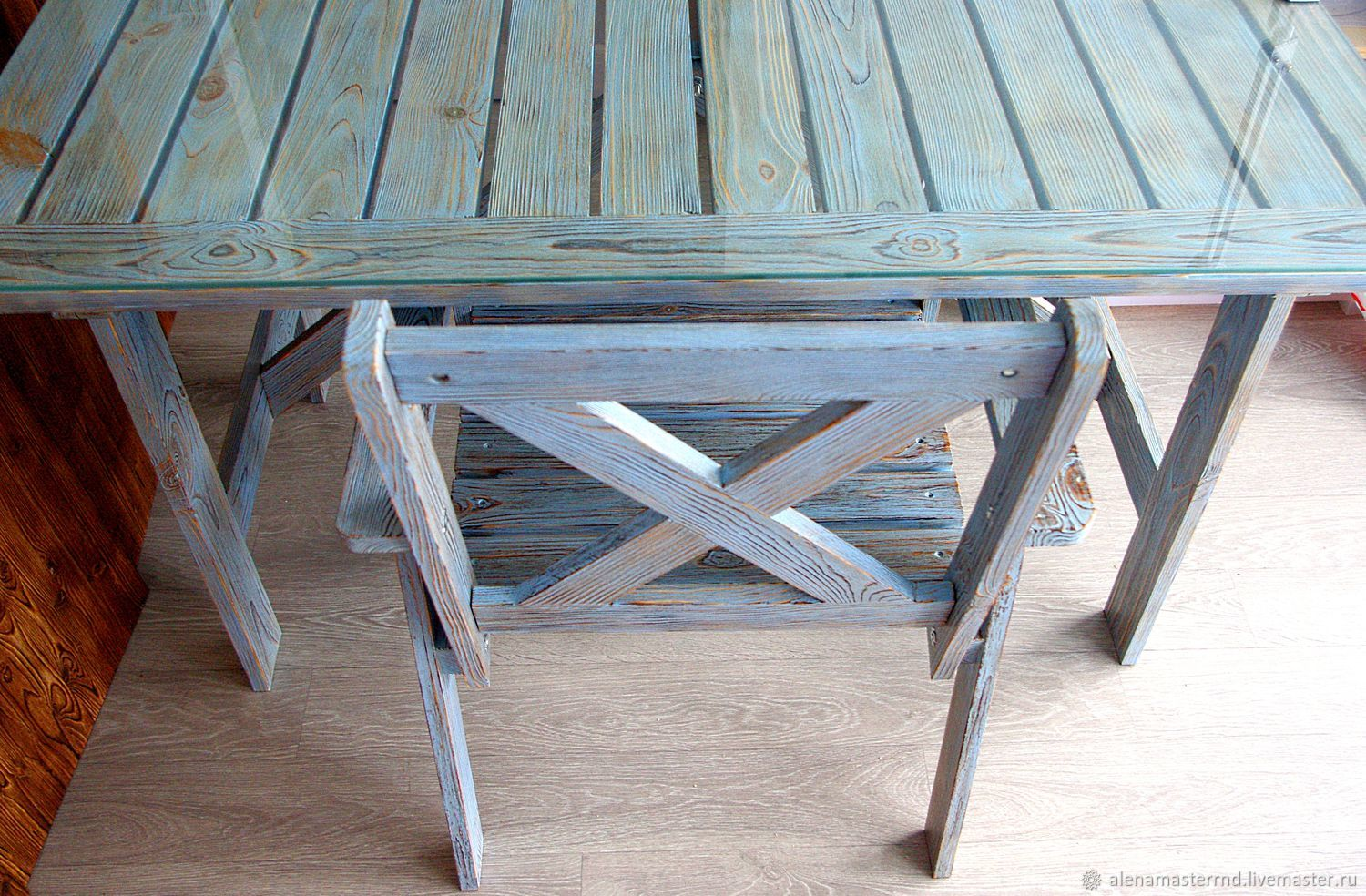 a set of pine furniture mood the wooden table a wooden chair rh livemaster com