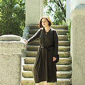 Dresses handmade. Livemaster - original item Dress with lace-up Gemma, cotton. Handmade.