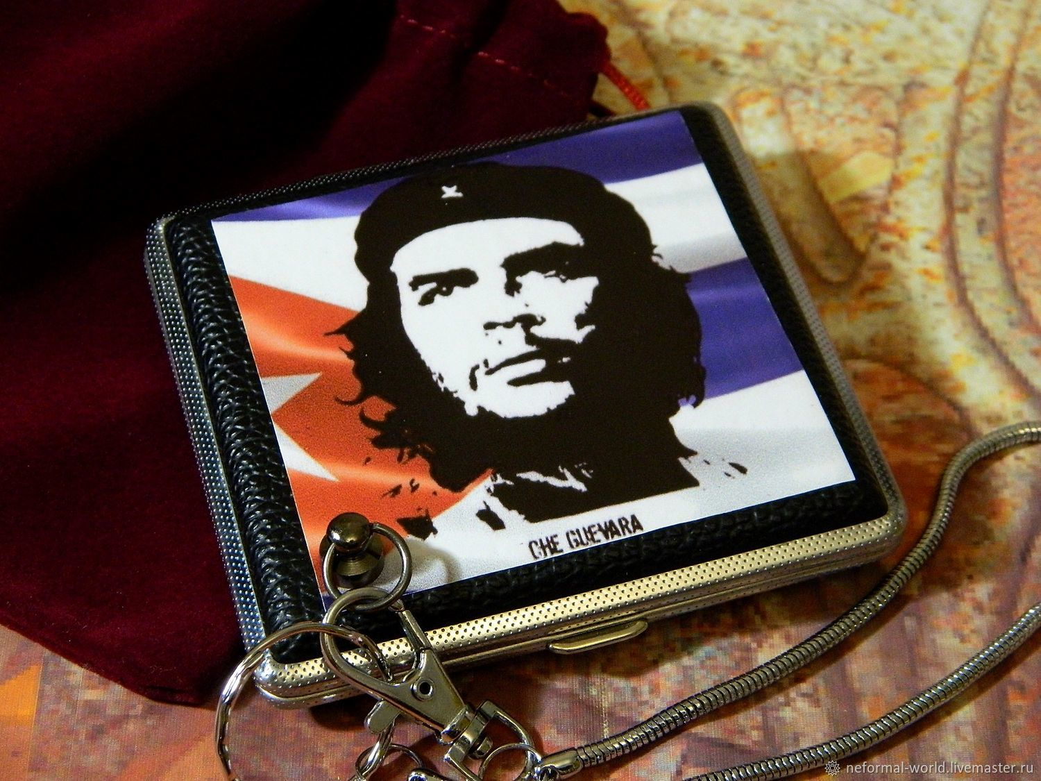 CIGARETTE CASE FOR 20 REGULAR AND 30 THIN CIGARETTES ' CHE GUEVARA', Cigarette cases, Saratov,  Фото №1