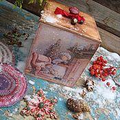 """Подарки к праздникам ручной работы. Ярмарка Мастеров - ручная работа Короб """"К бабушке на чай..."""". Handmade."""