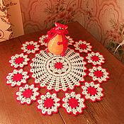 Для дома и интерьера ручной работы. Ярмарка Мастеров - ручная работа салфетка из мотивов. Handmade.
