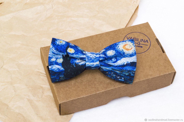 Starry night, bow Tie van Gogh, Van Gogh, Ties, Rostov-on-Don,  Фото №1