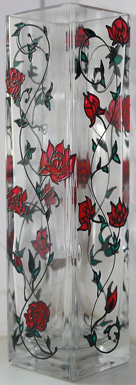 """Вазы ручной работы. Ярмарка Мастеров - ручная работа. Купить Вазочка """"Розовый сад"""". Handmade. Ваза, авторская ваза"""