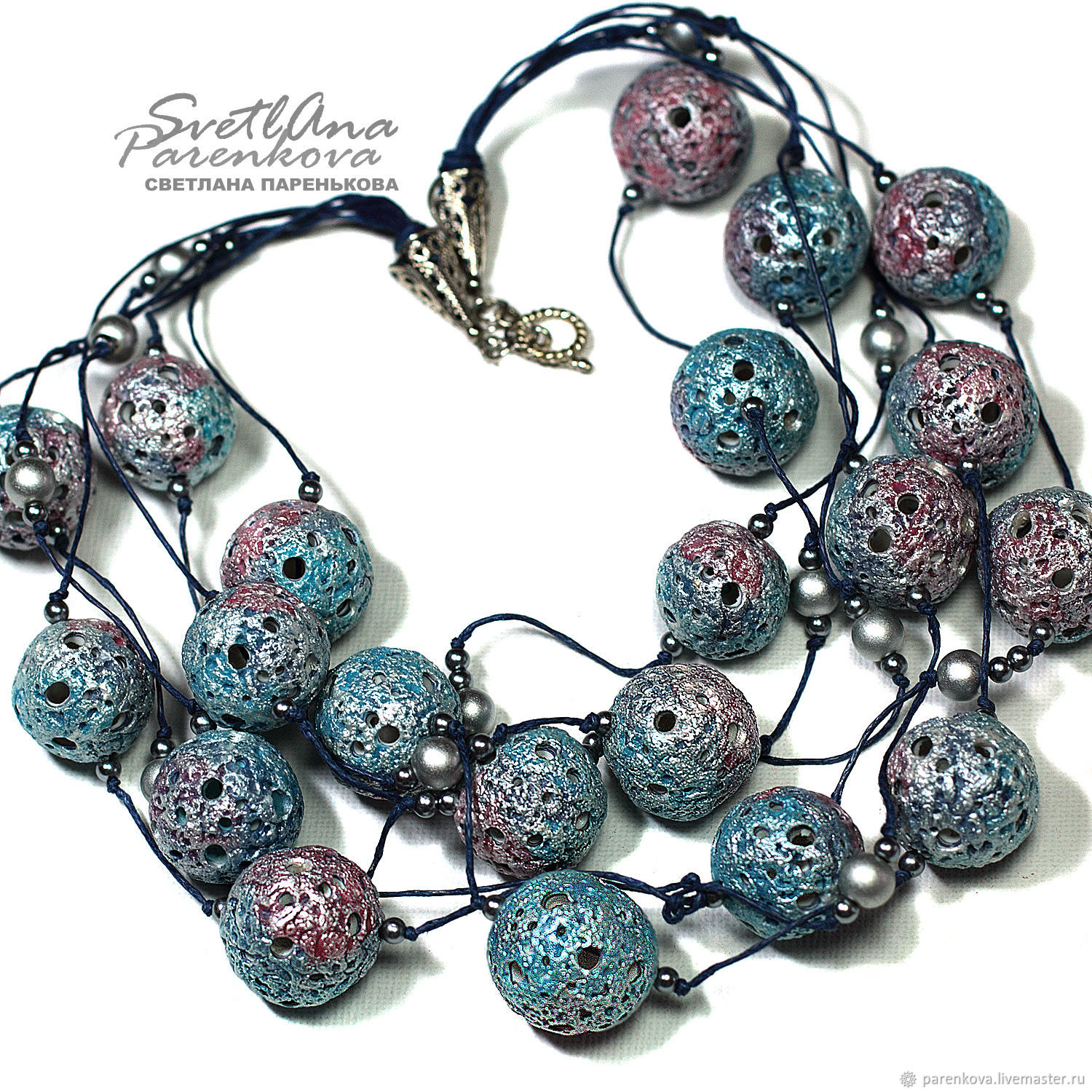 Beads from polymer clay snow (629), Beads2, Salavat,  Фото №1