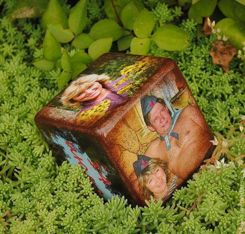 Открытка кубик с фото
