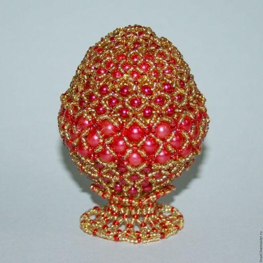 """Яйца ручной работы. Ярмарка Мастеров - ручная работа. Купить Пасхальное яйцо """"Роскошь"""". Handmade. Ярко-красный, пасхальный сувенир"""