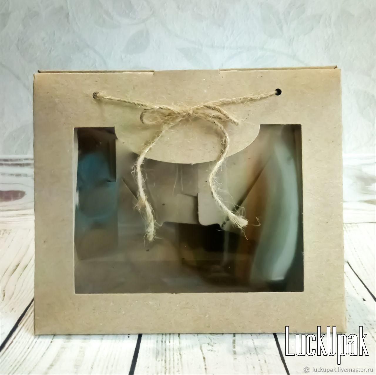 Упаковка ручной работы. Ярмарка Мастеров - ручная работа. Купить Коробка 'Сумочка' крафт, с окном, 21/10,5/18 см. Handmade.