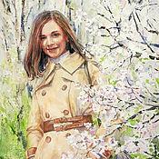 Картины и панно handmade. Livemaster - original item Painting in watercolour Lada. You can order a similar portrait.. Handmade.