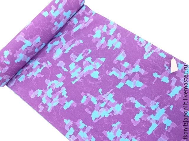 Japanese silk 'Turquoise-purple', Fabric, Chelyabinsk,  Фото №1