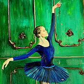 Картины и панно ручной работы. Ярмарка Мастеров - ручная работа Картина маслом Балерина 70х50. Handmade.
