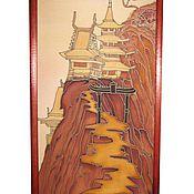 """Картины и панно ручной работы. Ярмарка Мастеров - ручная работа Панно """"Пагода"""". Handmade."""