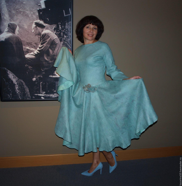 Dresses handmade. Livemaster - handmade. Buy Dress 'Fresh mint'.Handmade dress, mint green, silk fiber