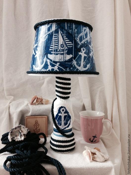 """Освещение ручной работы. Ярмарка Мастеров - ручная работа. Купить Лампа / светильник """"На яхте"""". Морская романтика. Морской стиль.. Handmade."""